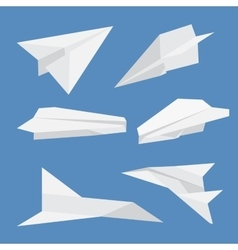 Set of paper planes airplane isolated vector