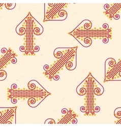 Seamless pattern with grungy arrows vector