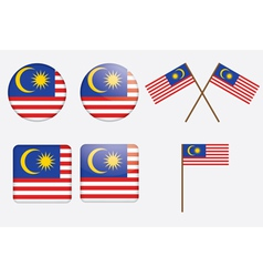 badges with flag of Malaysia vector image vector image