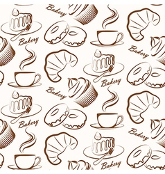 Bakery seamless vector