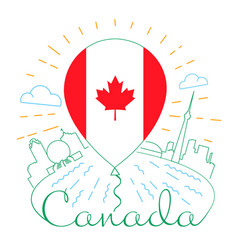 balloon with a canadian flag vector image vector image