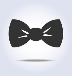 bow tie icon gray colors vector image