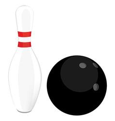 Bowling ball and pin vector