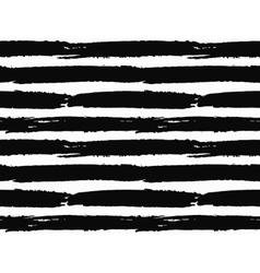 Brush Strokes Striped Pattern vector image