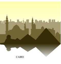 Cairo cityscape vector