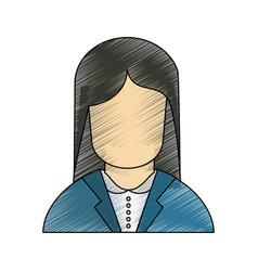 Call center woman avatar vector