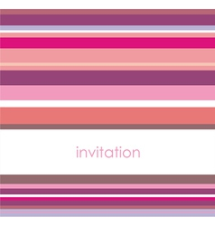 Card or invitation with pink violet strips vector image vector image