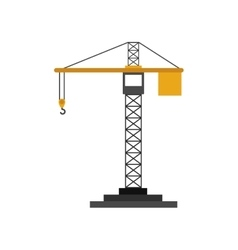 Colorfull silhouette construction tower crane vector