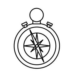 compass navigation tool vector image