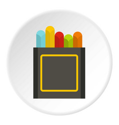 crayons icon circle vector image