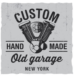 custom old garage poster vector image