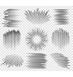 Fast lines manga motions vector