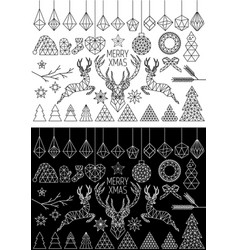 geometric christmas set vector image
