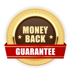 Golden medal money back guarantee vector