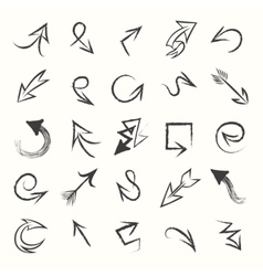 Hand drawn sketch arrows vector