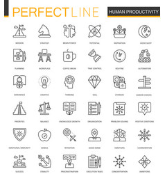 human productivity thin line web icons set task vector image