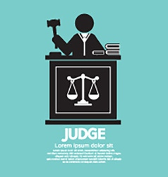 Judge With Gavel Symbol Graphic vector image vector image