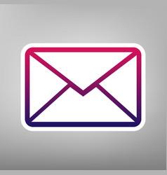 Letter sign purple gradient vector