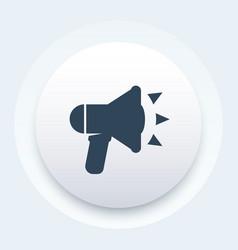 loudspeaker icon megaphone bullhorn pictogram vector image