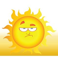 Lowering Sun Shining vector image