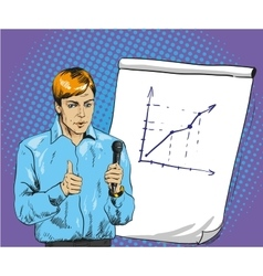 Man making presentation in vector