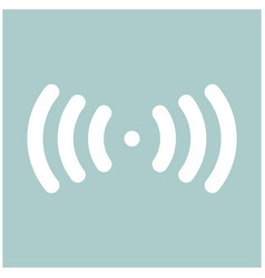 radio signal the white color icon vector image vector image