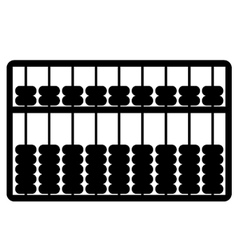 silhouette of abacus vector image vector image