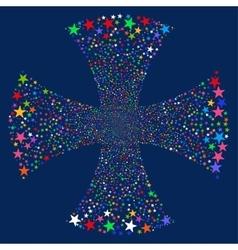 Sparkle star maltian cross vector