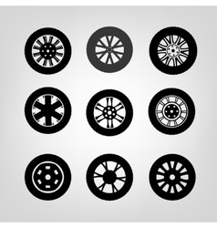 Tires Icons-03 A vector image vector image