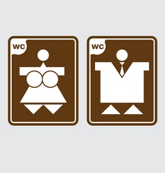 toilet symbols wc vector image