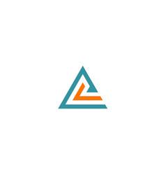 Triangle line abstract company logo vector