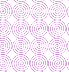 White colored paper pink spirals vector