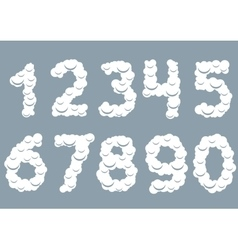 White Snowy numbers vector image