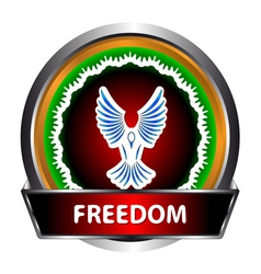 Freedom icon vector