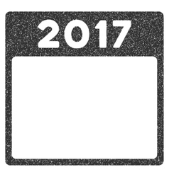2017 year calendar template grainy texture icon vector
