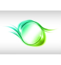 abstract round green vector image