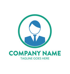 businessman logo-9 vector image