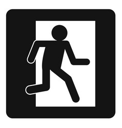 Fire exit sign icon simple vector
