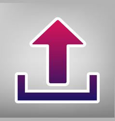 Upload sign purple gradient vector