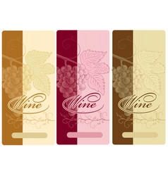 set of wine labels vector image