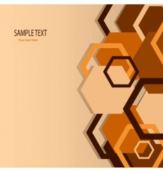 stylish orange banner vector illustration vector image