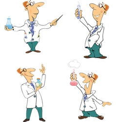 Set of scientists clip-art cartoon vector