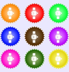 Watches icon symbol a set of nine different vector