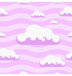 Seamless pink clouds pattern background vector