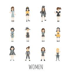 Women set eps10 format vector image