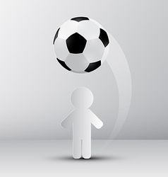 Football - soccer ball with paper cut player vector