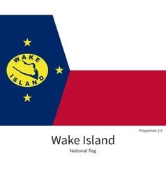 National flag of wake island with correct vector