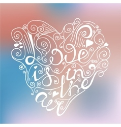 Hand drawn romantic poster vector