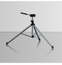 Realistic camera tripod vector