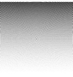 Radial halftone black background pattern vector